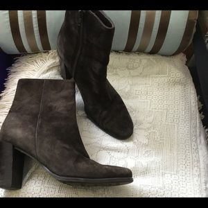 Amanda smith leather suede brown ankle boots 6.5